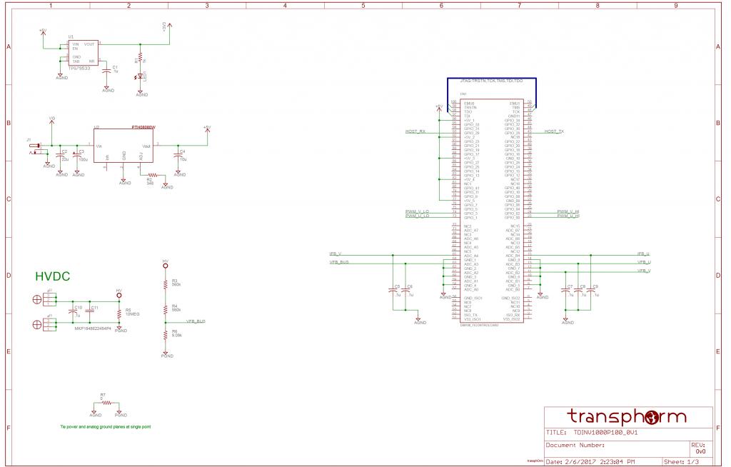 english  gan evaluation board tdinv1000p100-kit 1kw inverter
